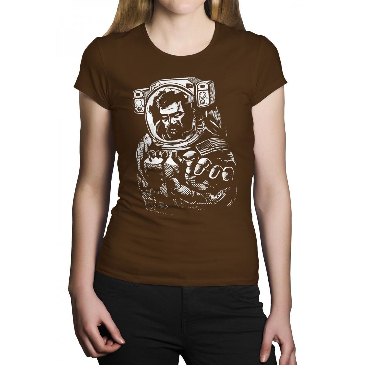 Camiseta HShop Astronauta Zumbi Marrom  - HShop