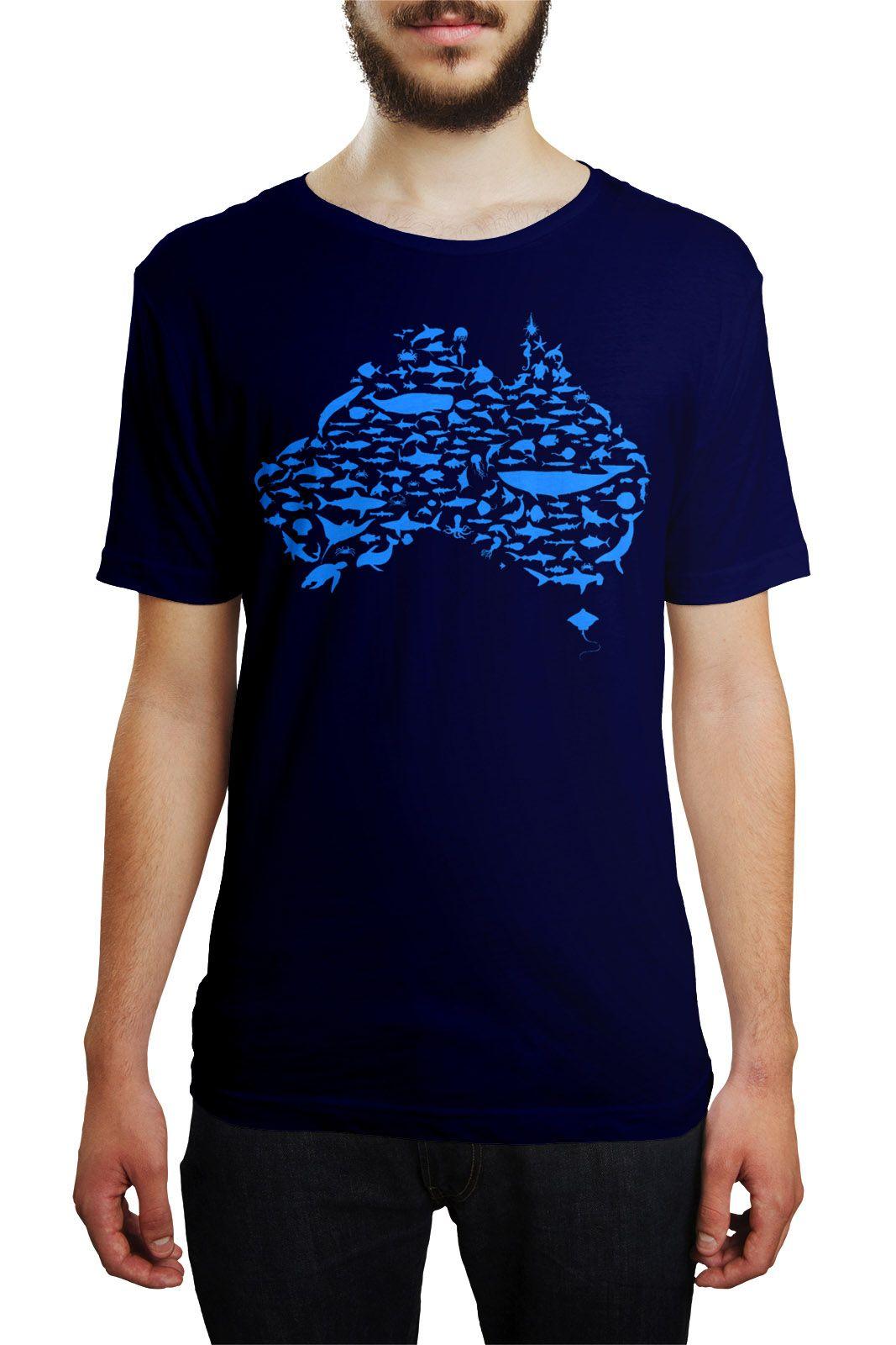 Camiseta HShop Australia Azul Marinho  - HShop