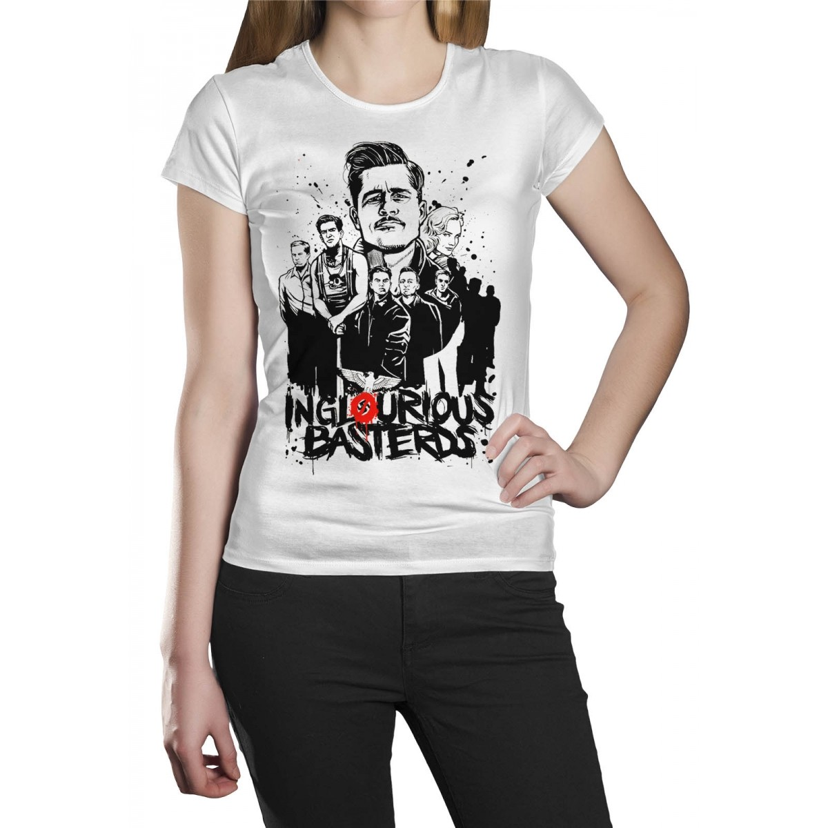 Camiseta HShop Bastardos Inglórios Branco  - HShop