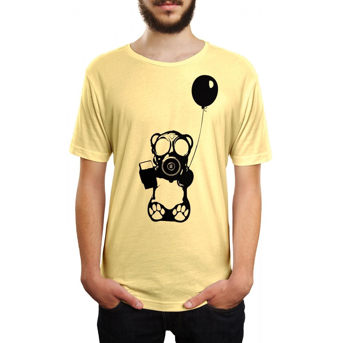 Camiseta HShop Bear Balloon Amarela  - HShop