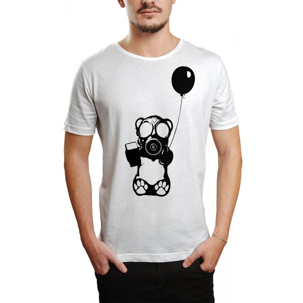 Camiseta HShop Bear Balloon Branco  - HShop