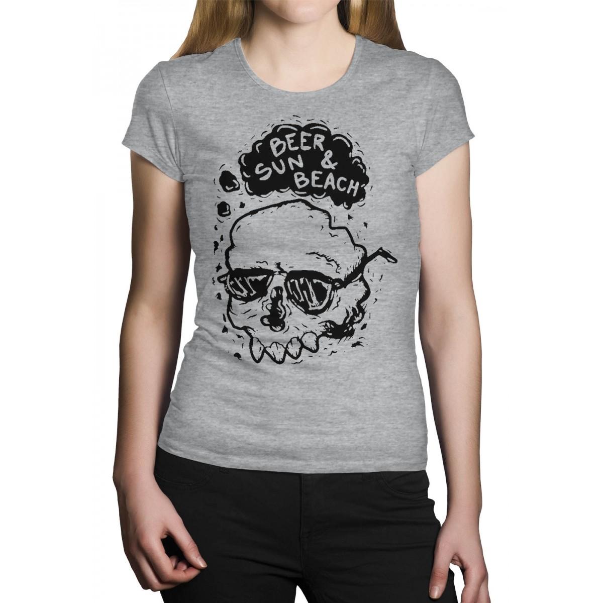 Camiseta HShop Beer Sun - Cinza Mescla  - HShop