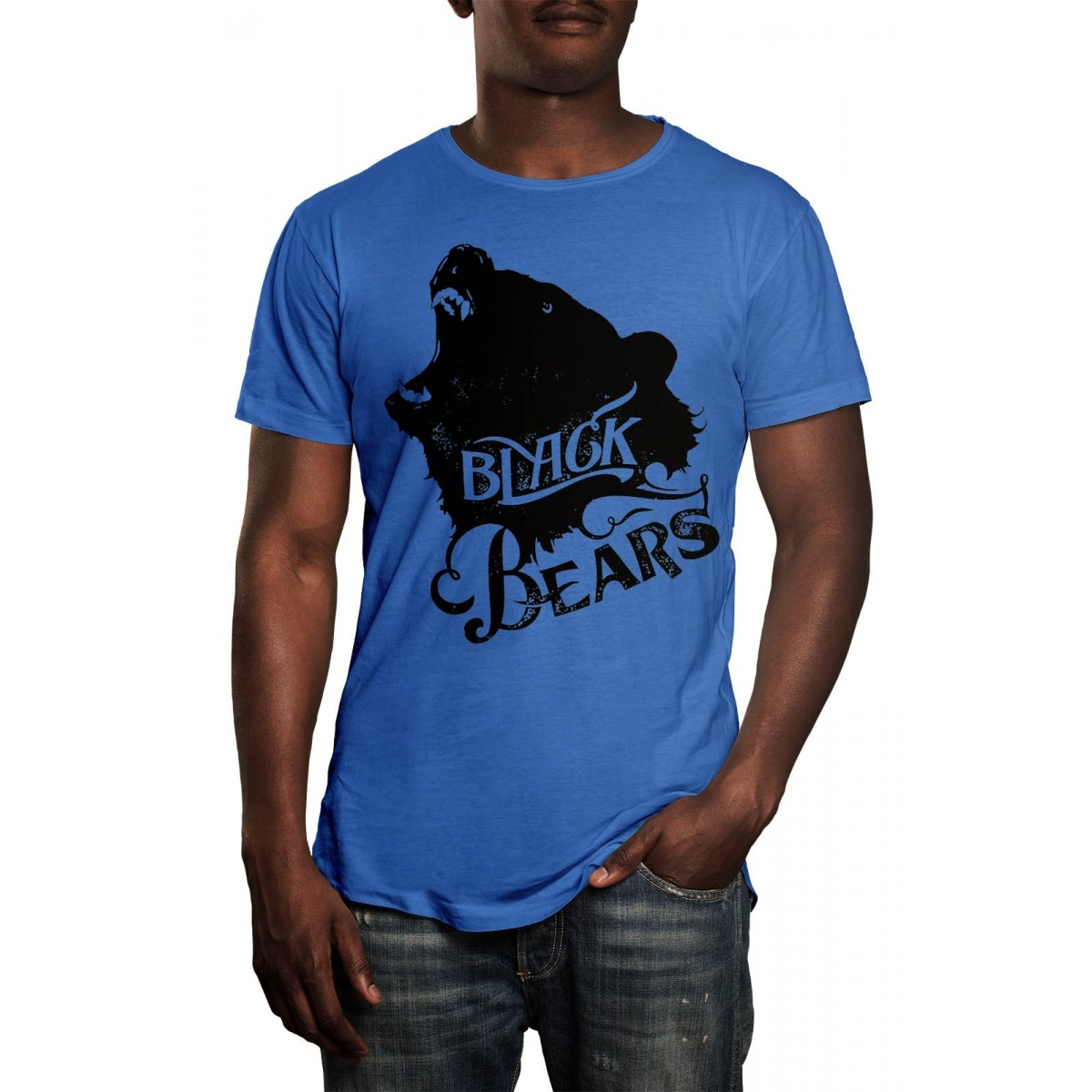 Camiseta HShop Black Bears Azul  - HShop
