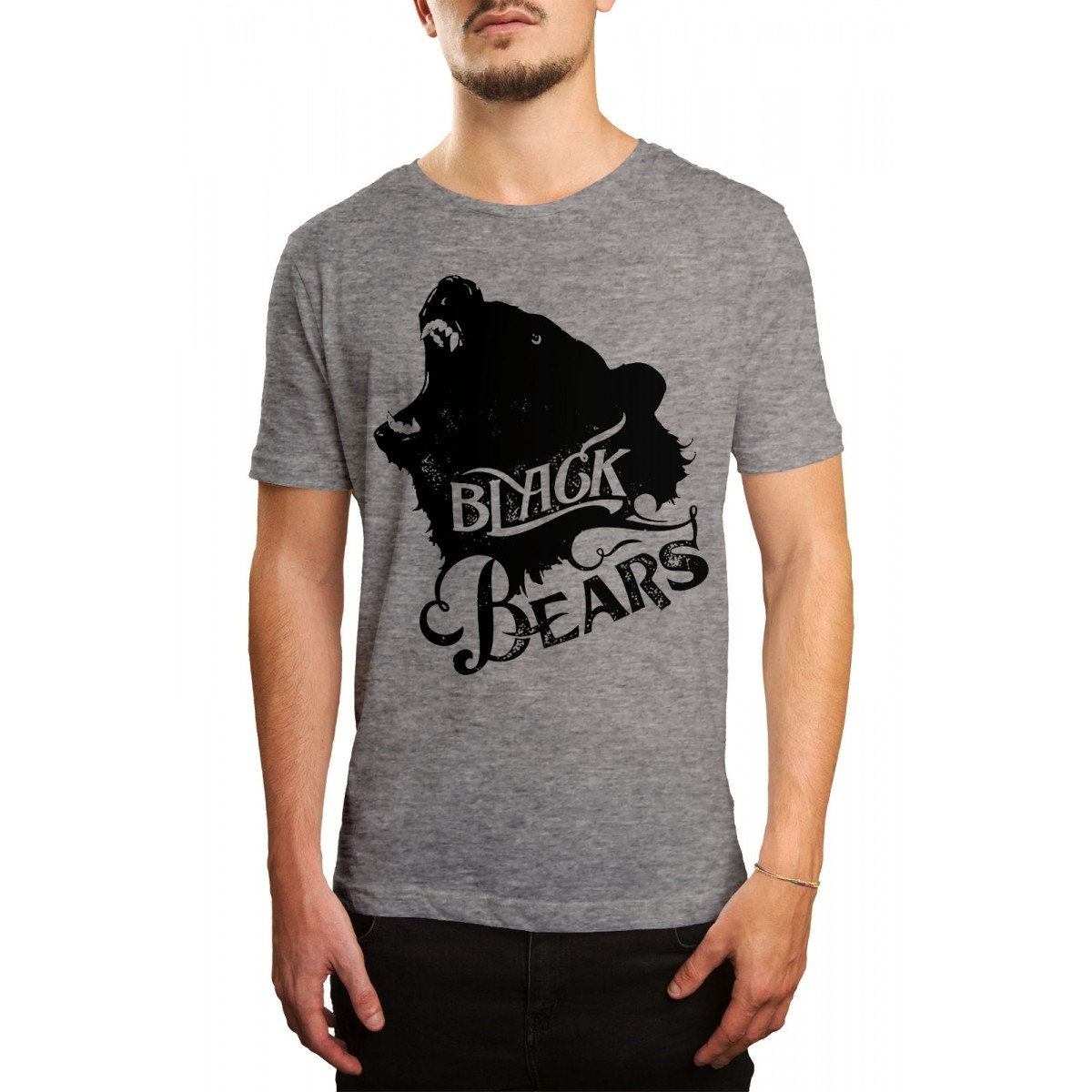 Camiseta HShop Black Bears Cinza  - HShop