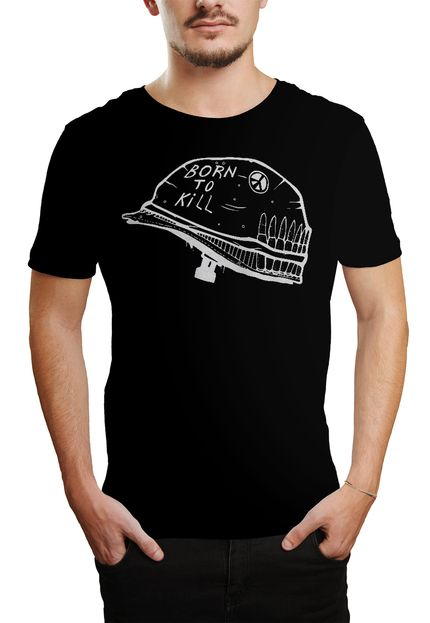 Camiseta Born To Kill - Preto  - HShop