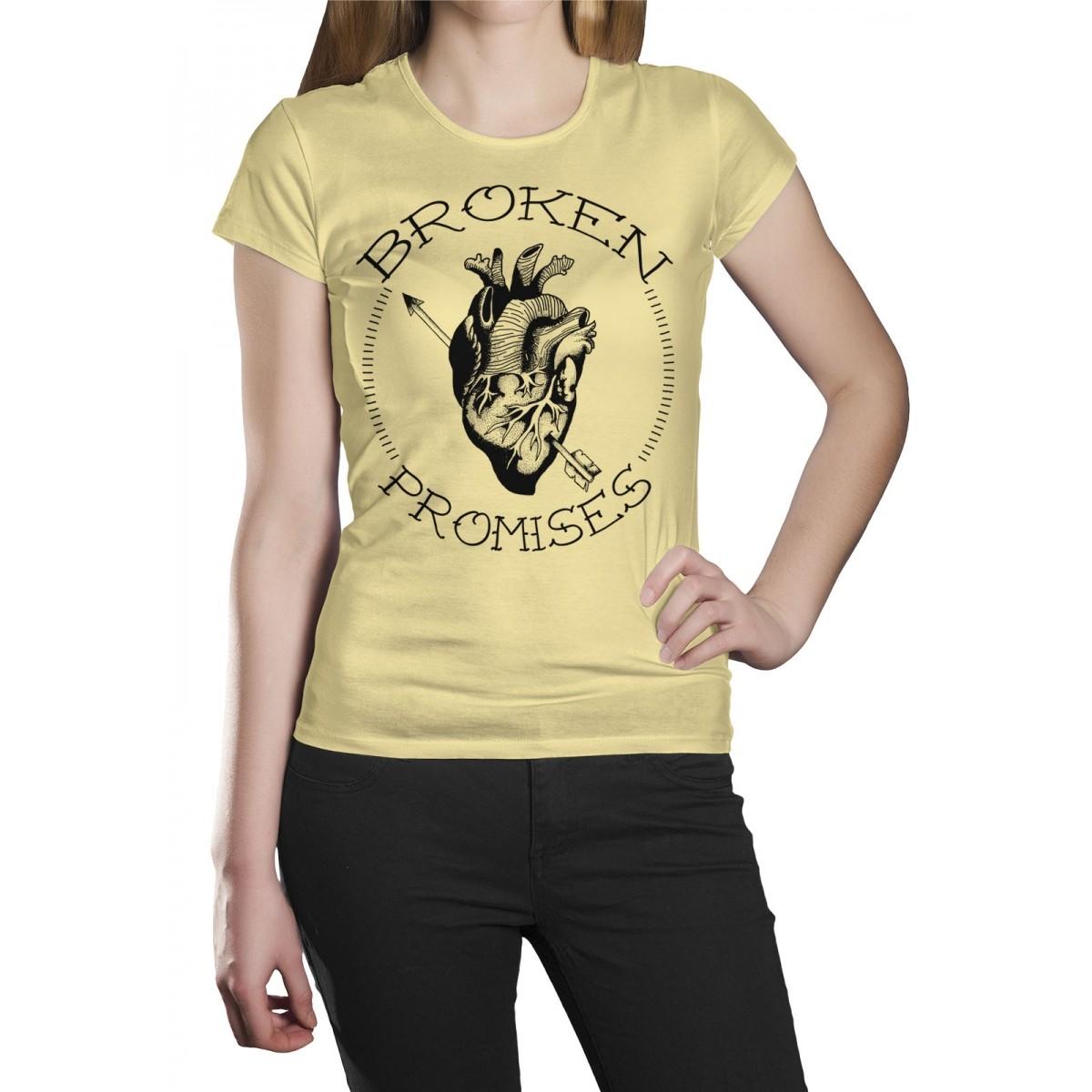 Camiseta HShop Broken Promisses Amarelo  - HShop