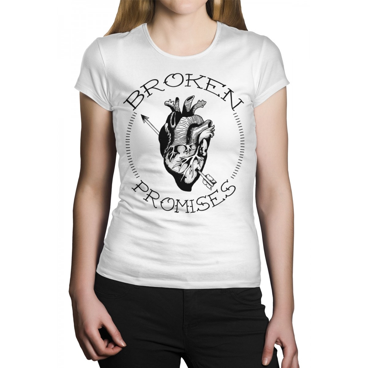 Camiseta HShop Broken Promisses Branco  - HShop