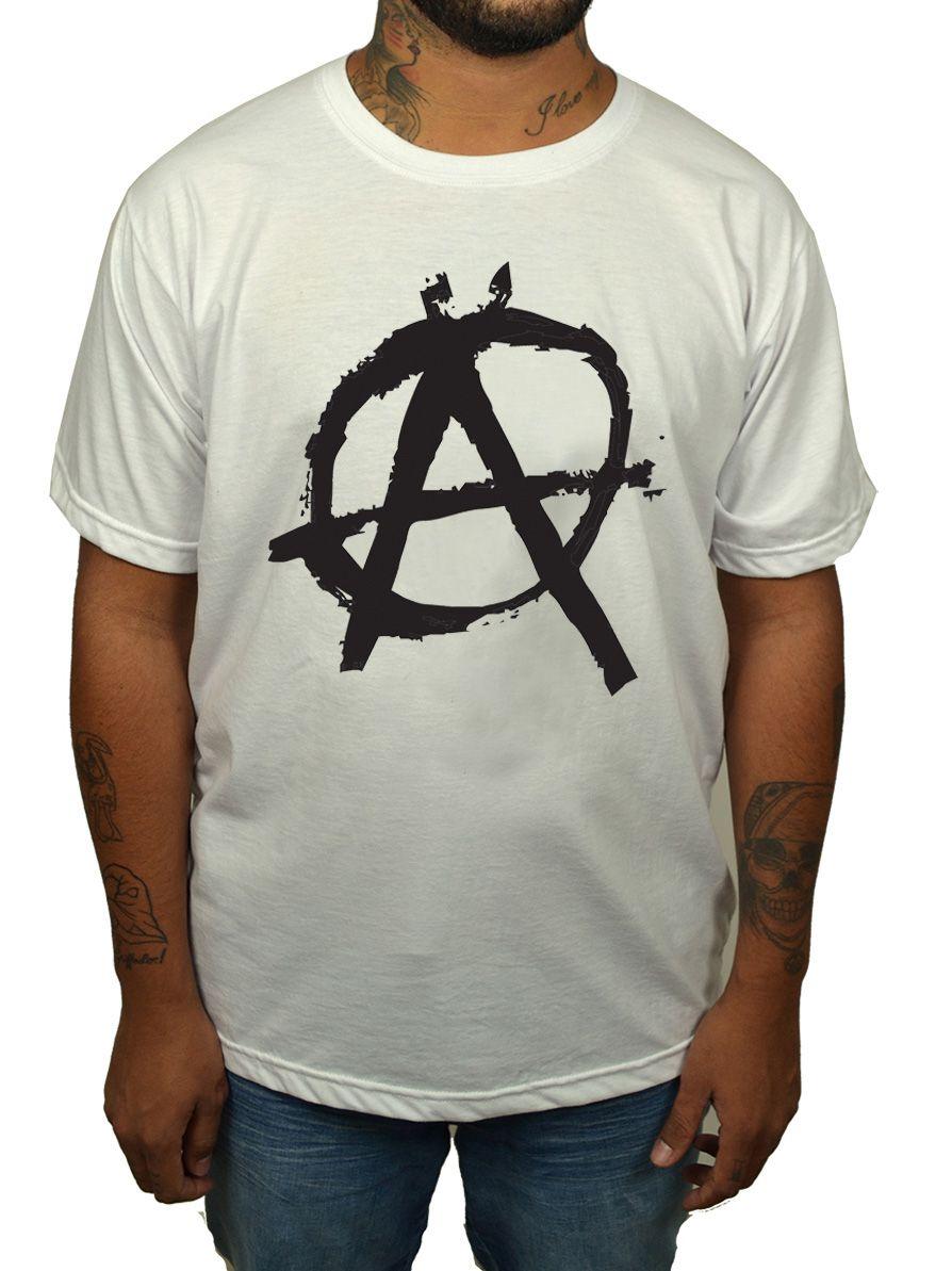 Camiseta HShop Camiseta Anarquia - Branca  - HShop