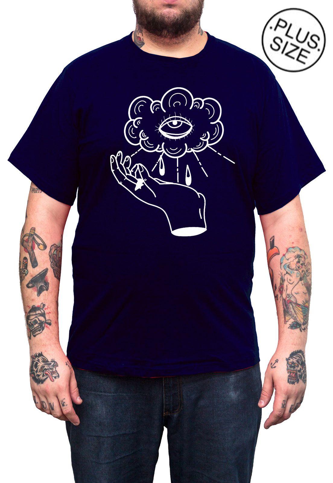 Camiseta Hshop Can See U - Azul Marinho - Plus Size - Tamanho Grande XG  - HShop