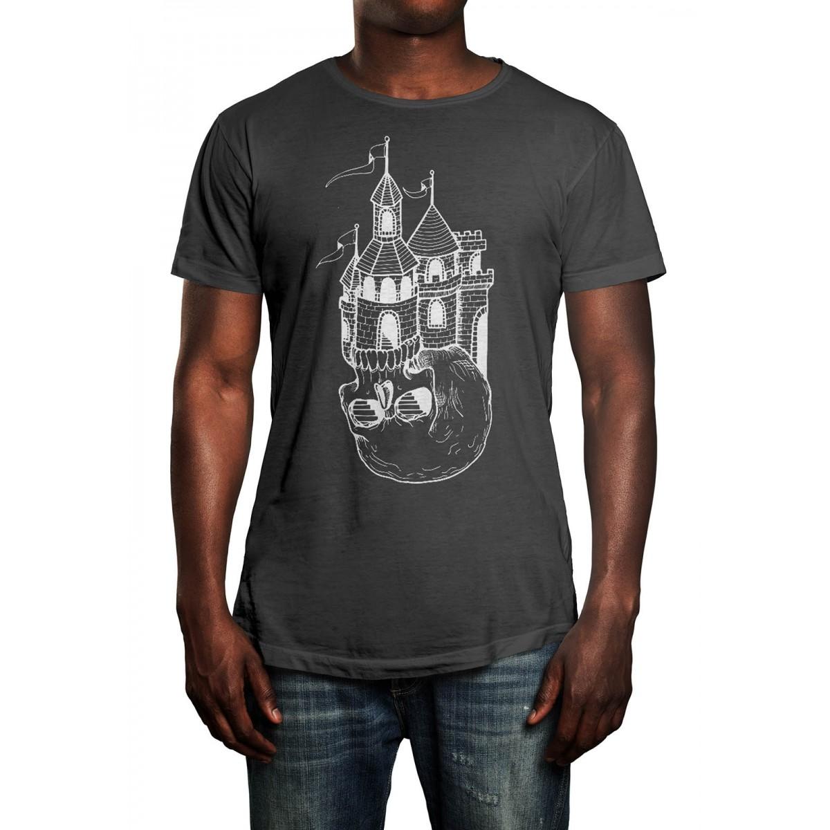 Camiseta HShop Castle Cinza Chumbo  - HShop