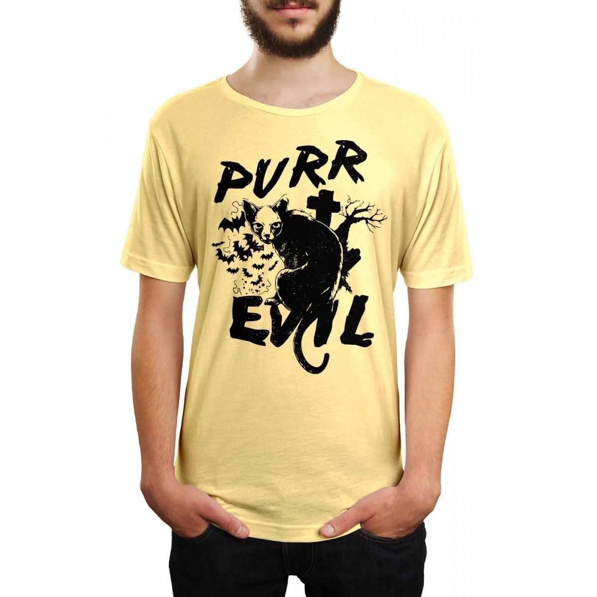 Camiseta HShop Cat Evil Amarelo  - HShop