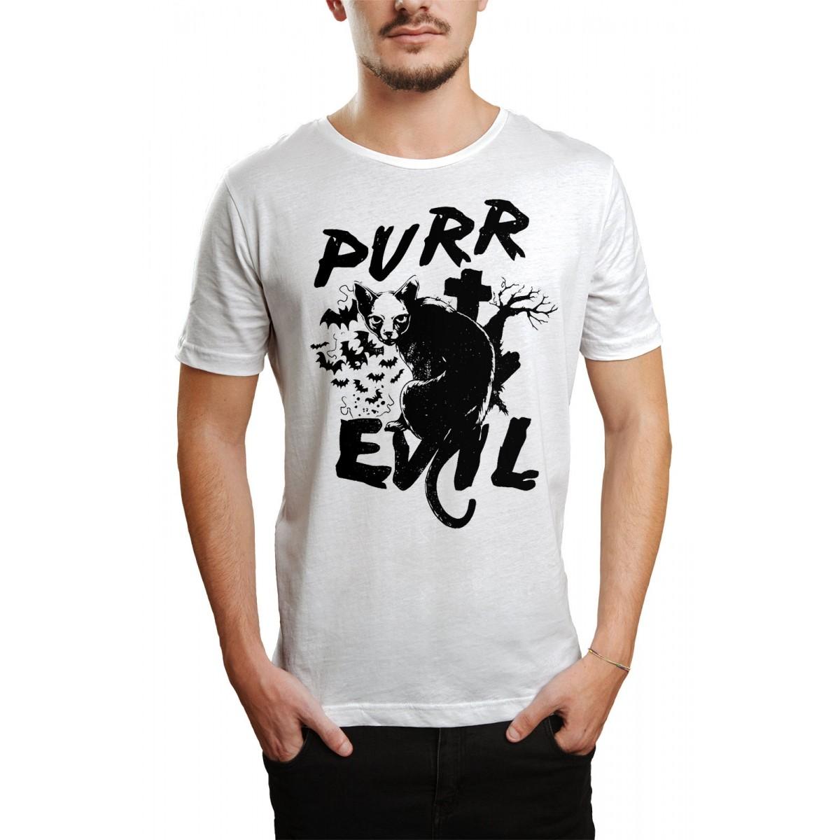 Camiseta Cat Evil Branco  - HShop