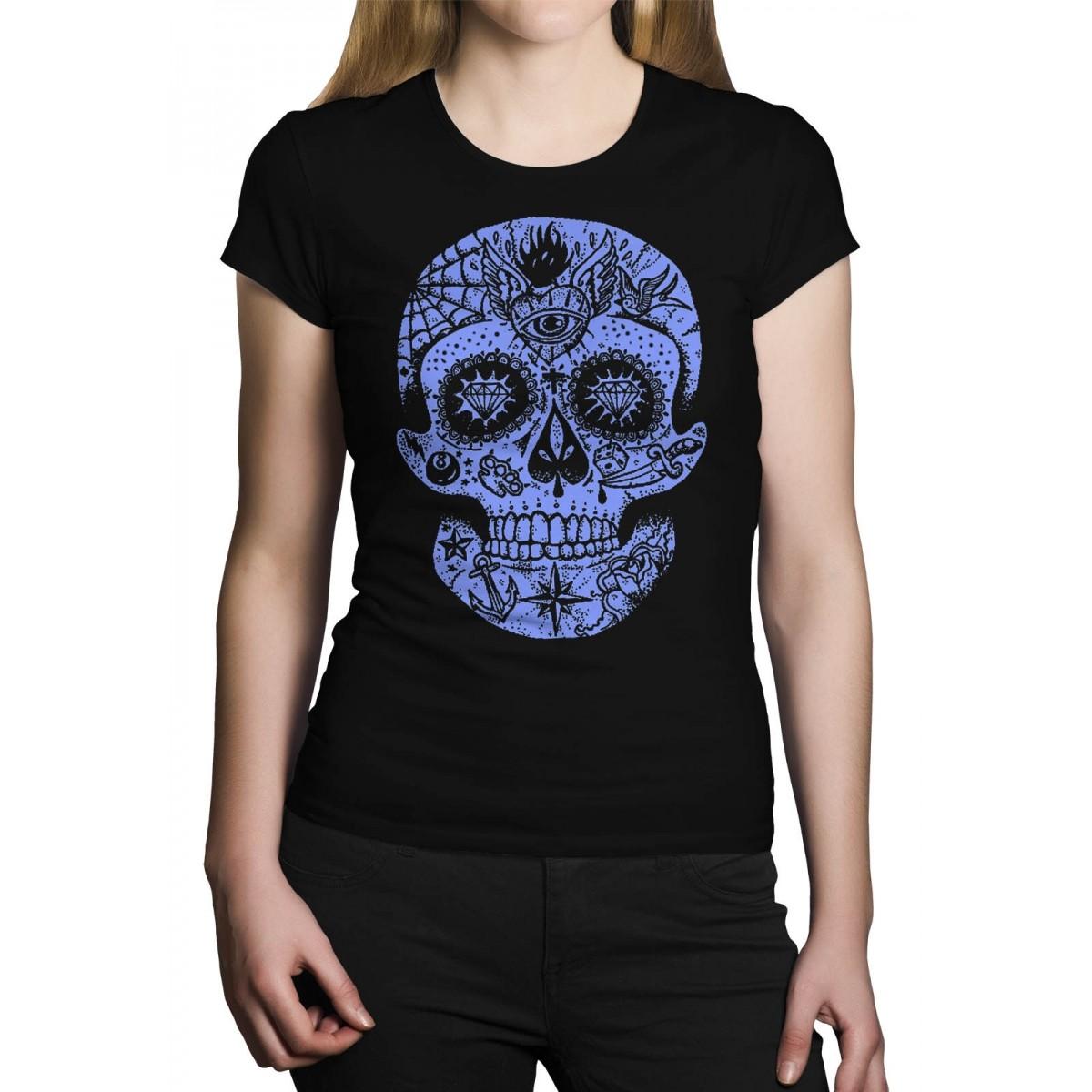 Camiseta HShop Caveira Mexicana Preto  - HShop
