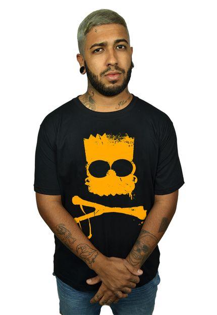 Camiseta Bart Caveira Preto - Simpsons  - HShop