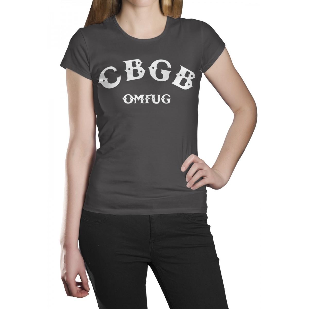 Camiseta Cbgb Logo Cinza Chumbo  - HShop