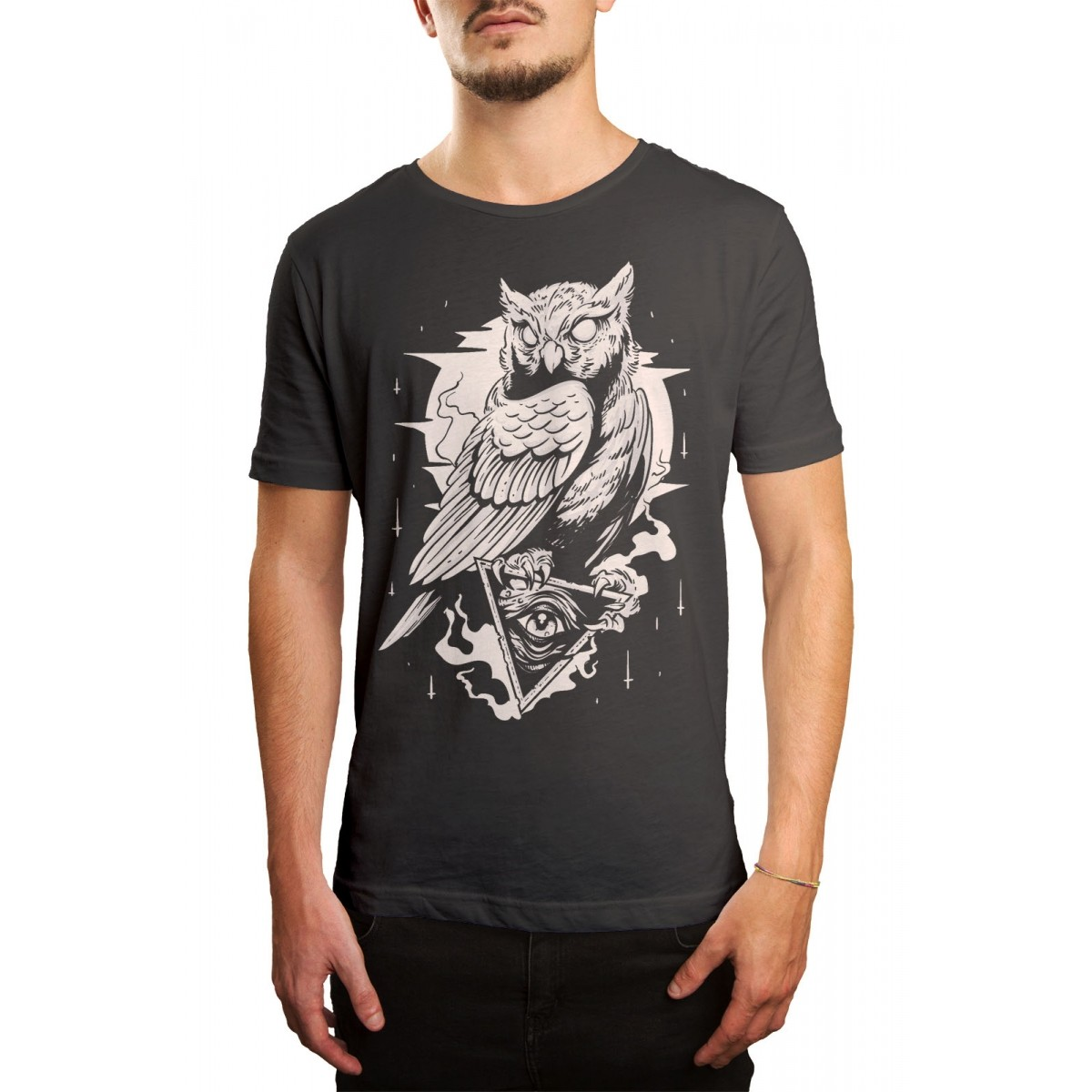 Camiseta HShop Coruja Cinza  - HShop