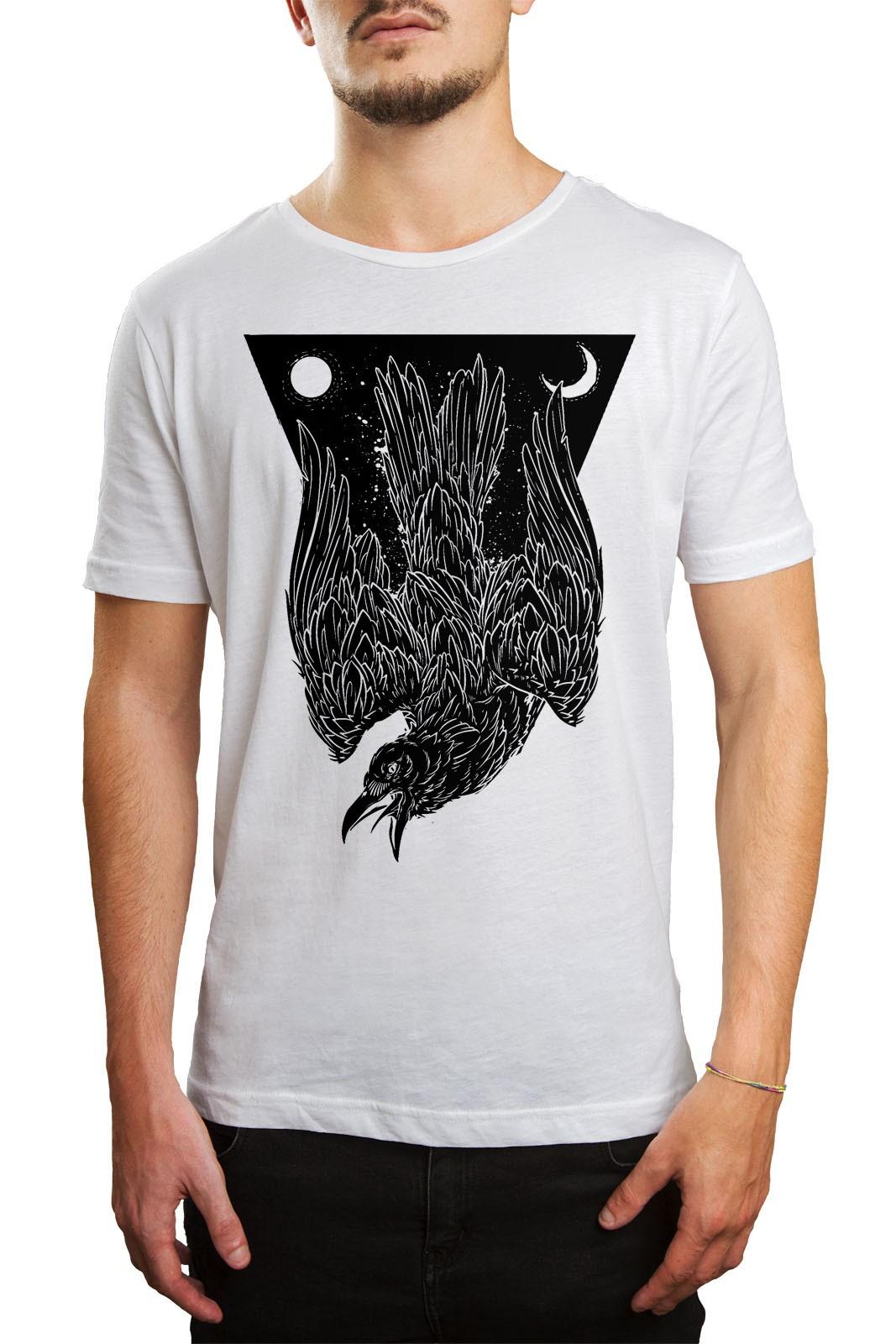 Camiseta Hshop Crow Branco  - HShop