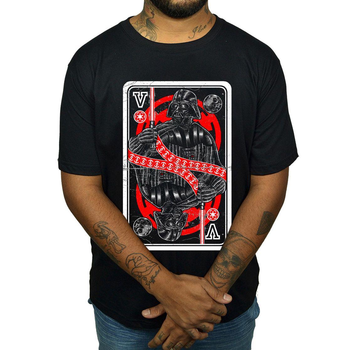 Camiseta Darth Vader - Carta de Baralho  - HShop