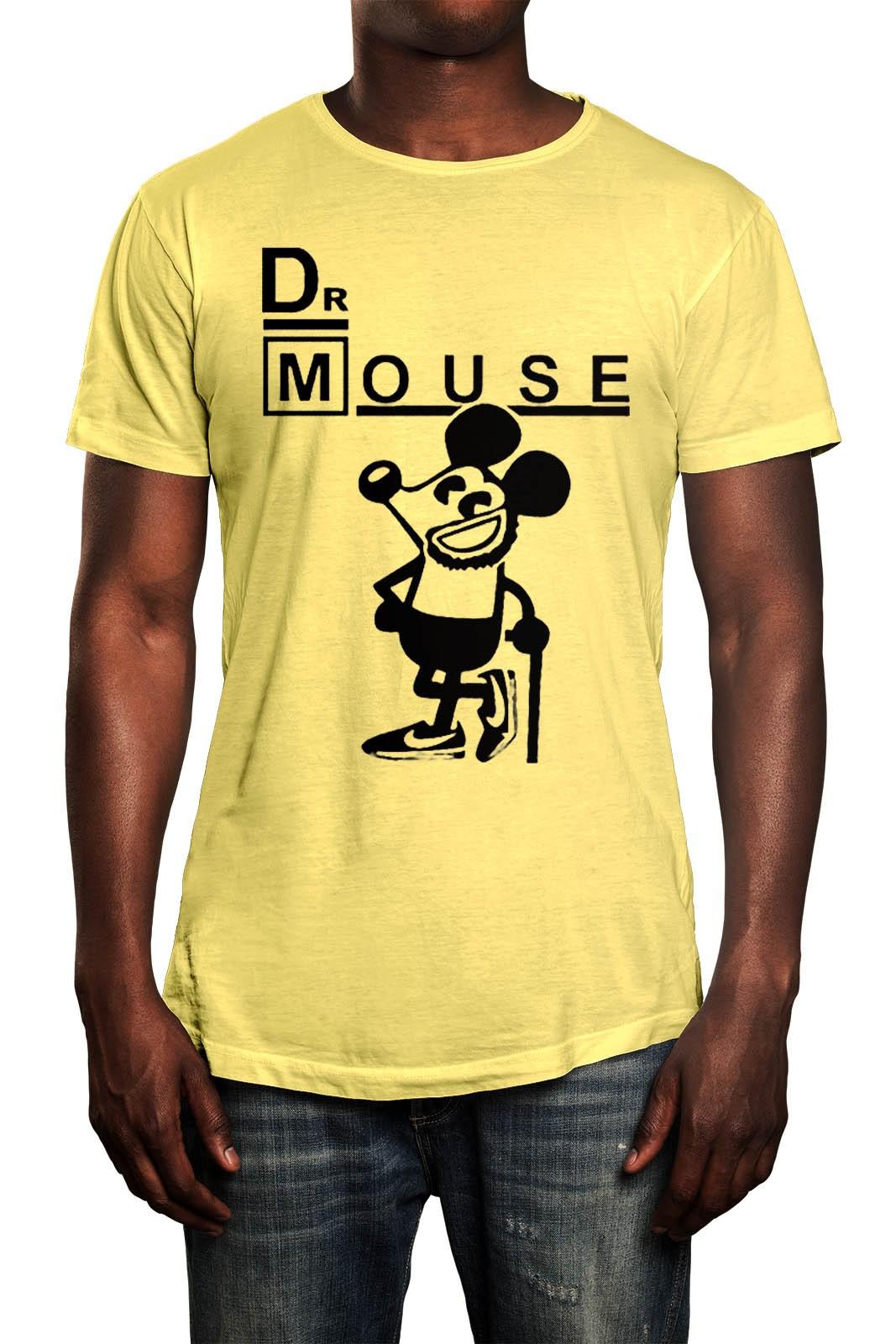 Camiseta HShop Dr Mouse Amarela  - HShop