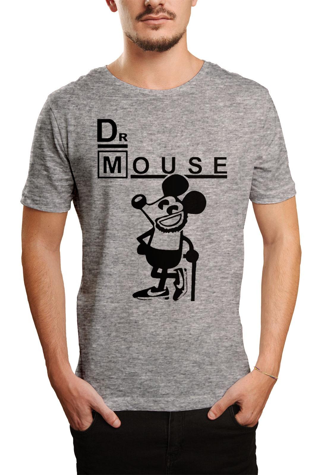 Camiseta HShop Dr Mouse Cinza  - HShop