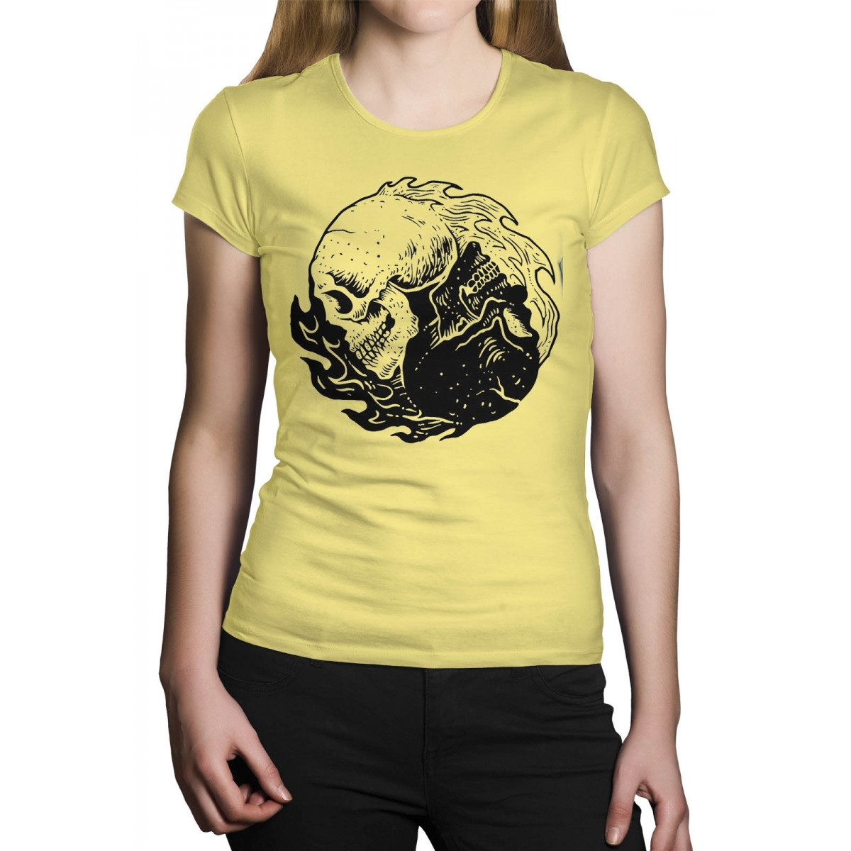 Camiseta HShop Equilibrium Amarelo Bebê  - HShop