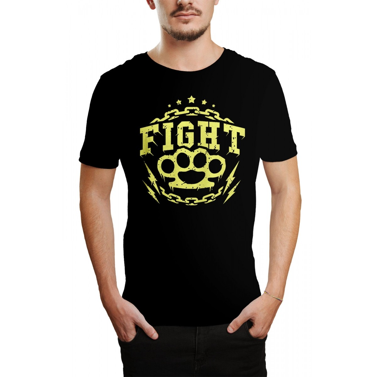 Camiseta HShop Fight! Preto  - HShop