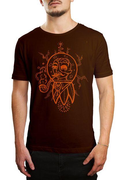Camiseta HShop Future Man - Marrom  - HShop