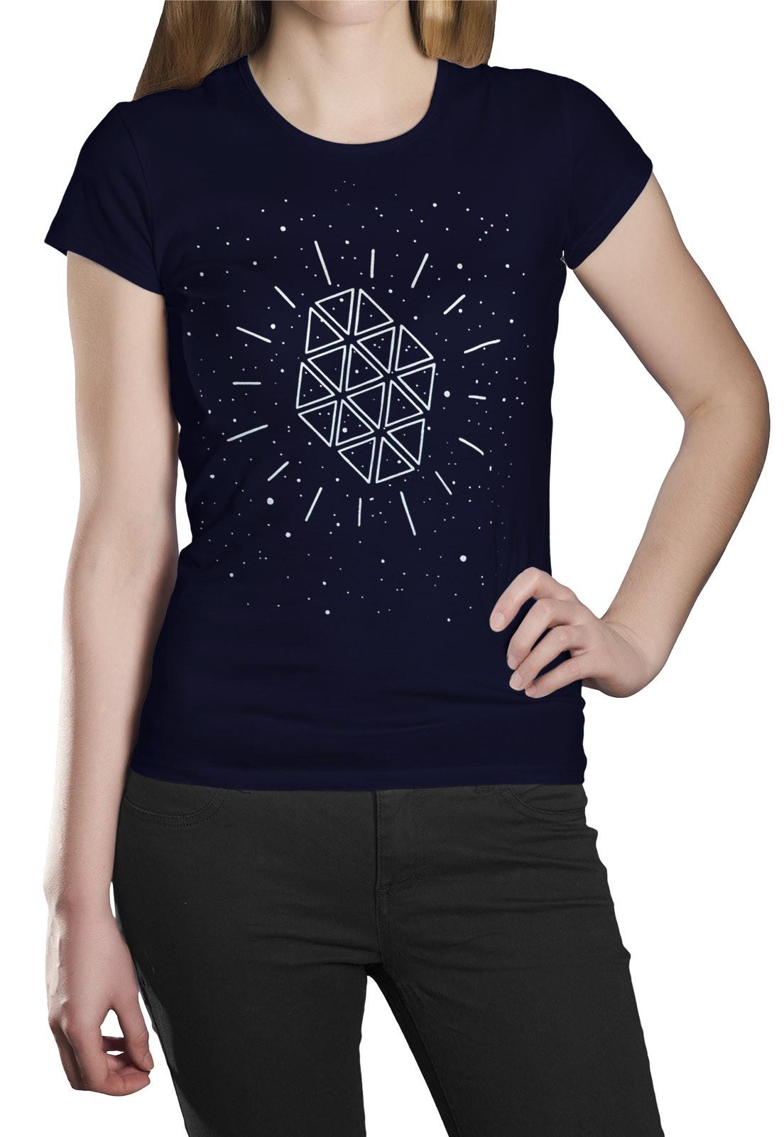 Camiseta HShop Galaxia Azul Marinho  - HShop