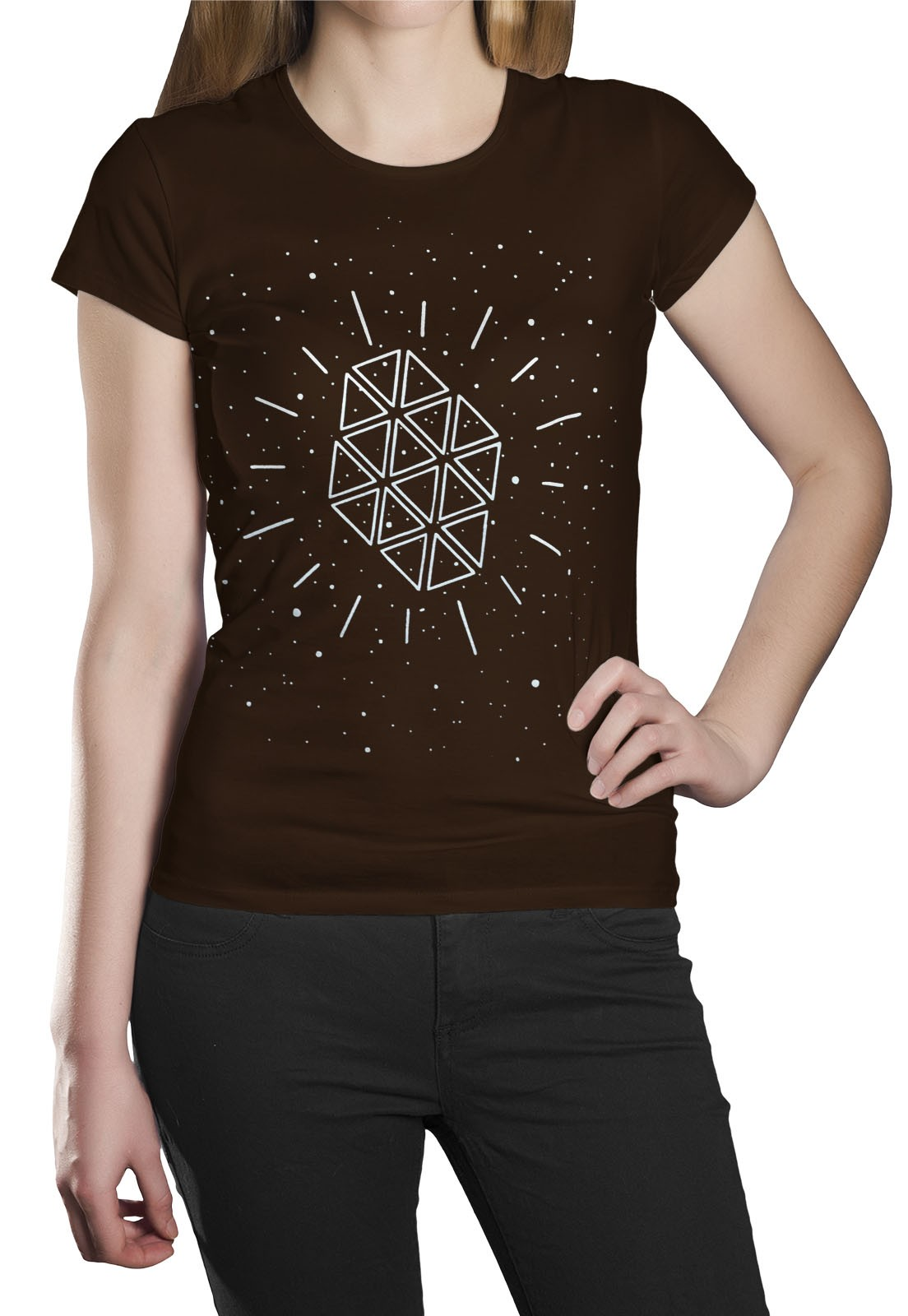 Camiseta HShop Galáxia Marrom  - HShop