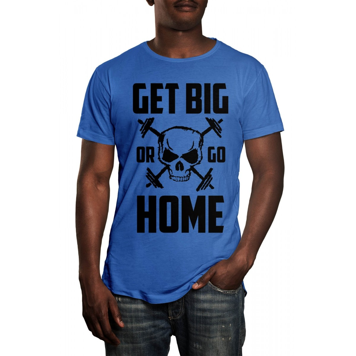 Camiseta HShop Get Big Or Go Home Azul  - HShop