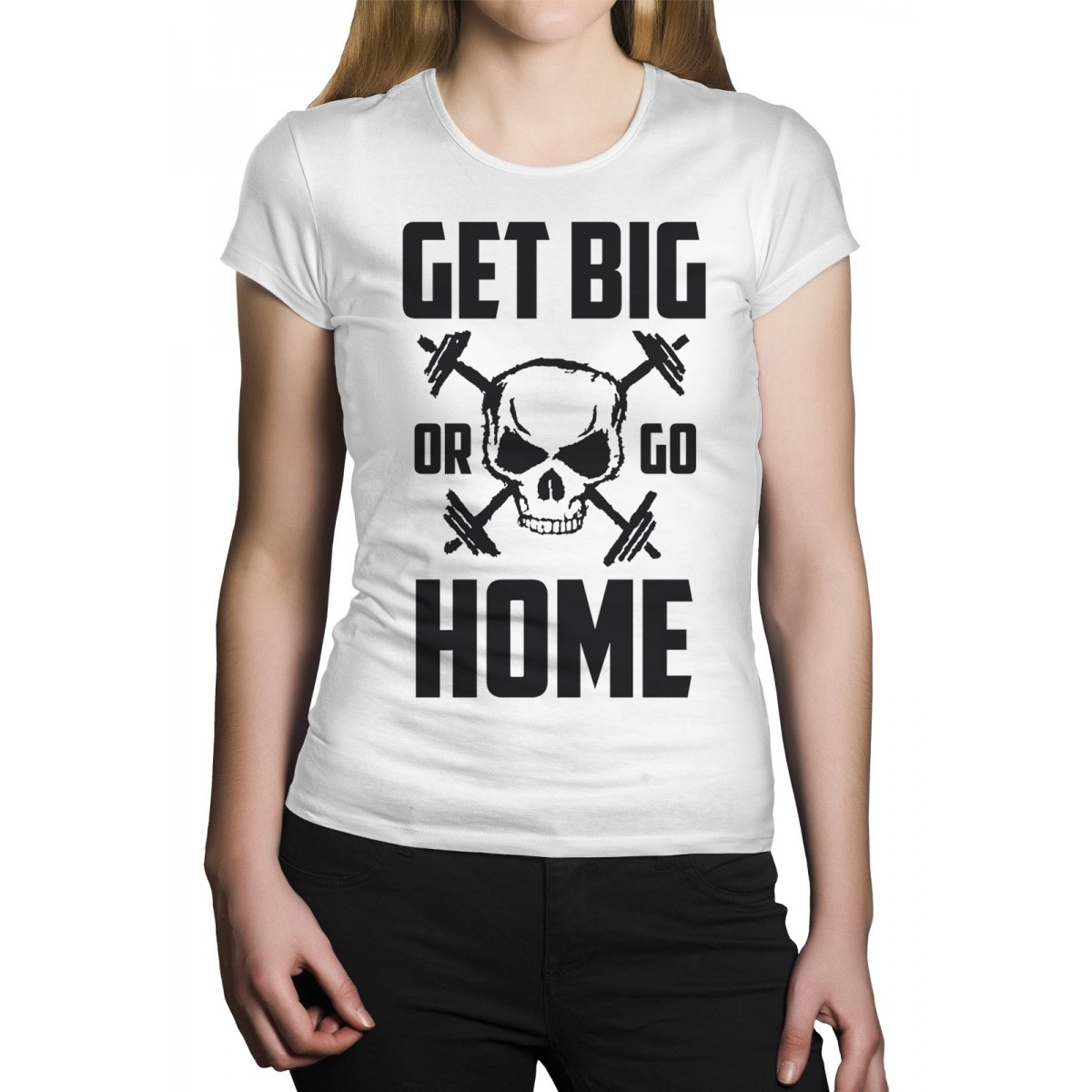 Camiseta HShop Get Big Or Go Home Branco - HShop