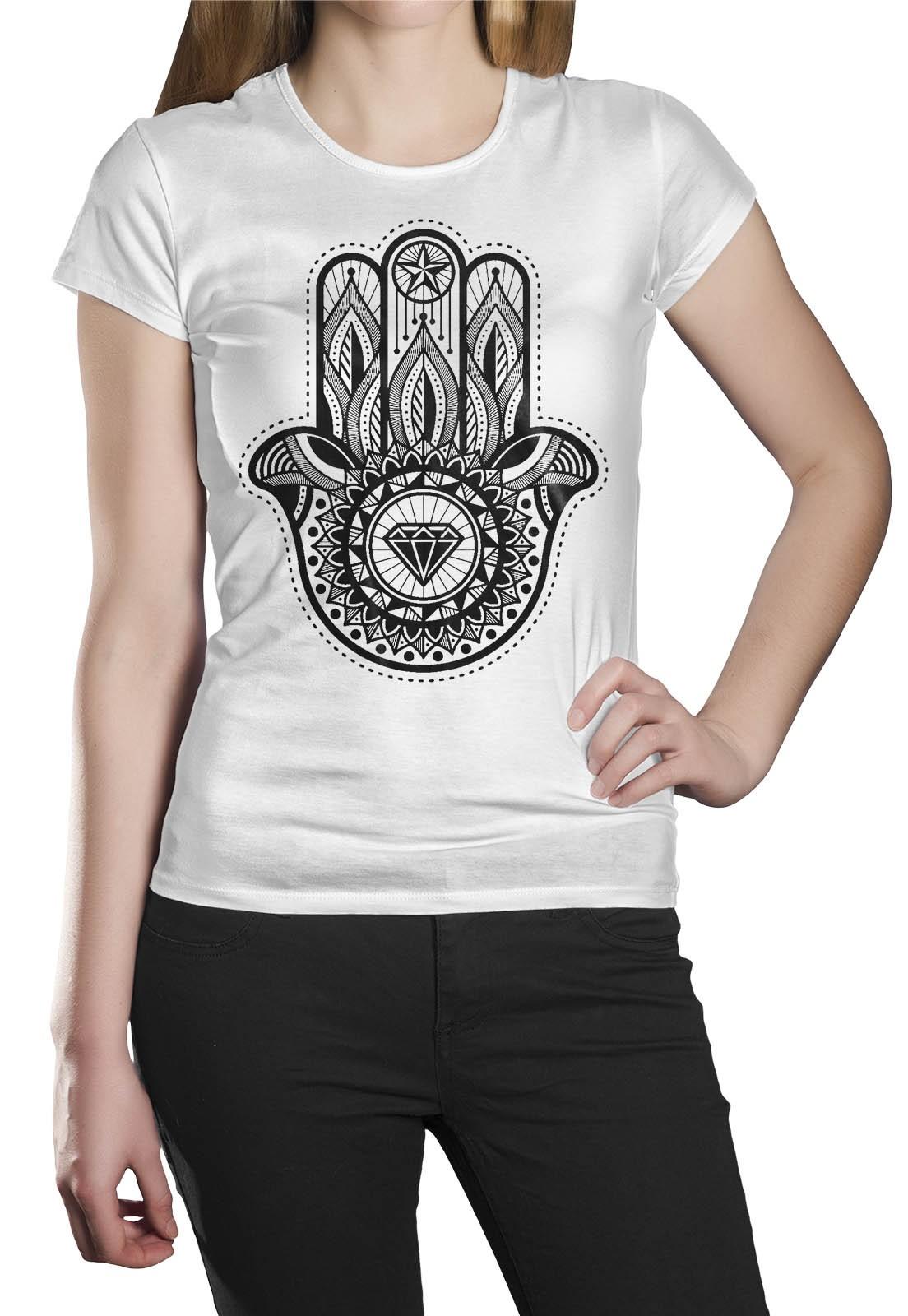 Camiseta HShop Hamsa Branco  - HShop