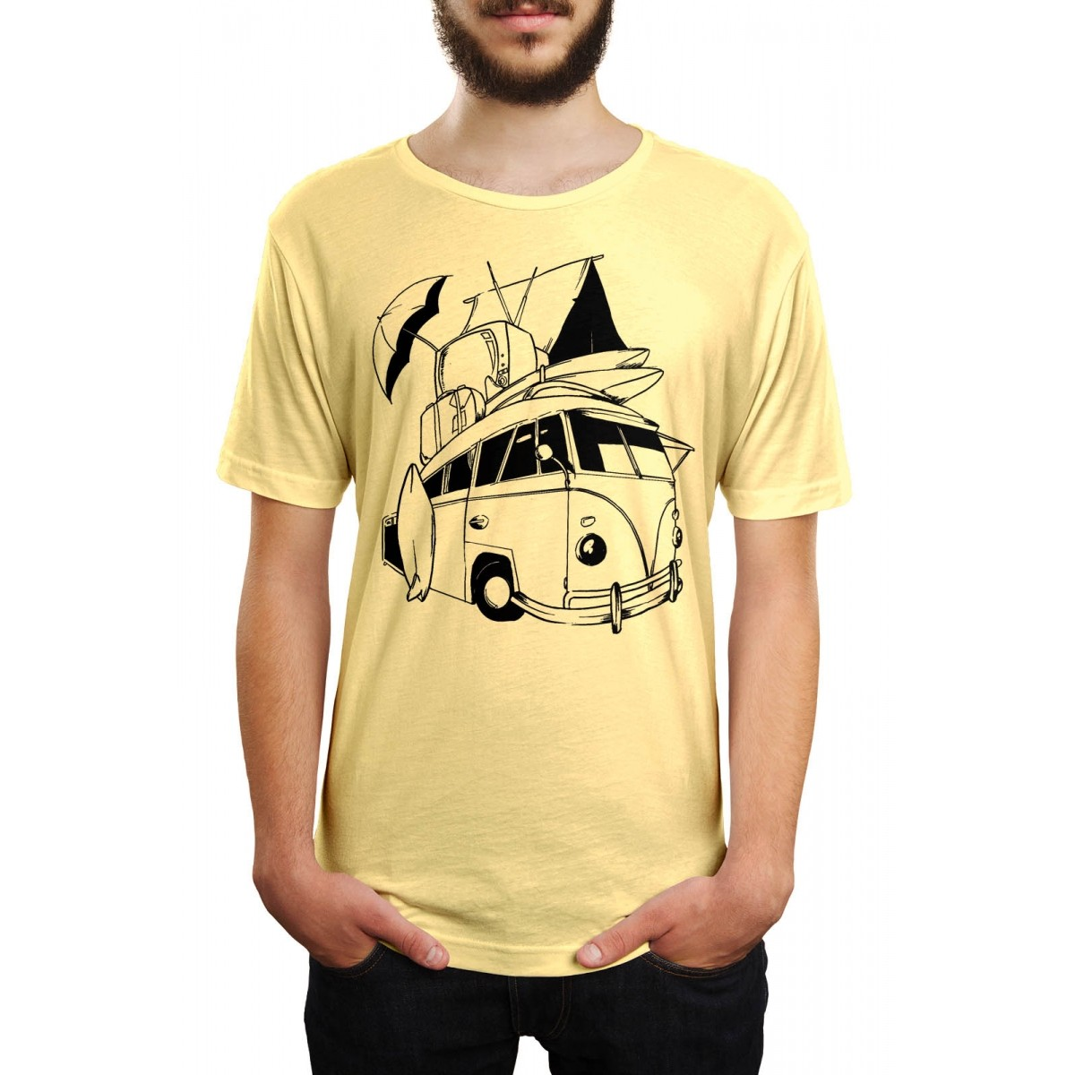 Camiseta HShop Kombi Amarelo  - HShop