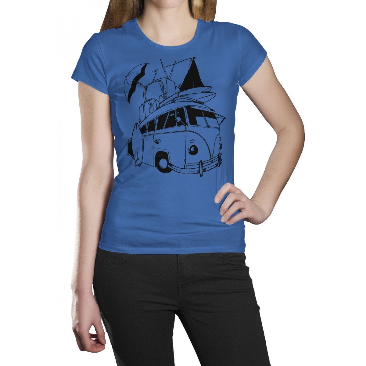 Camiseta HShop Kombi Azul  - HShop