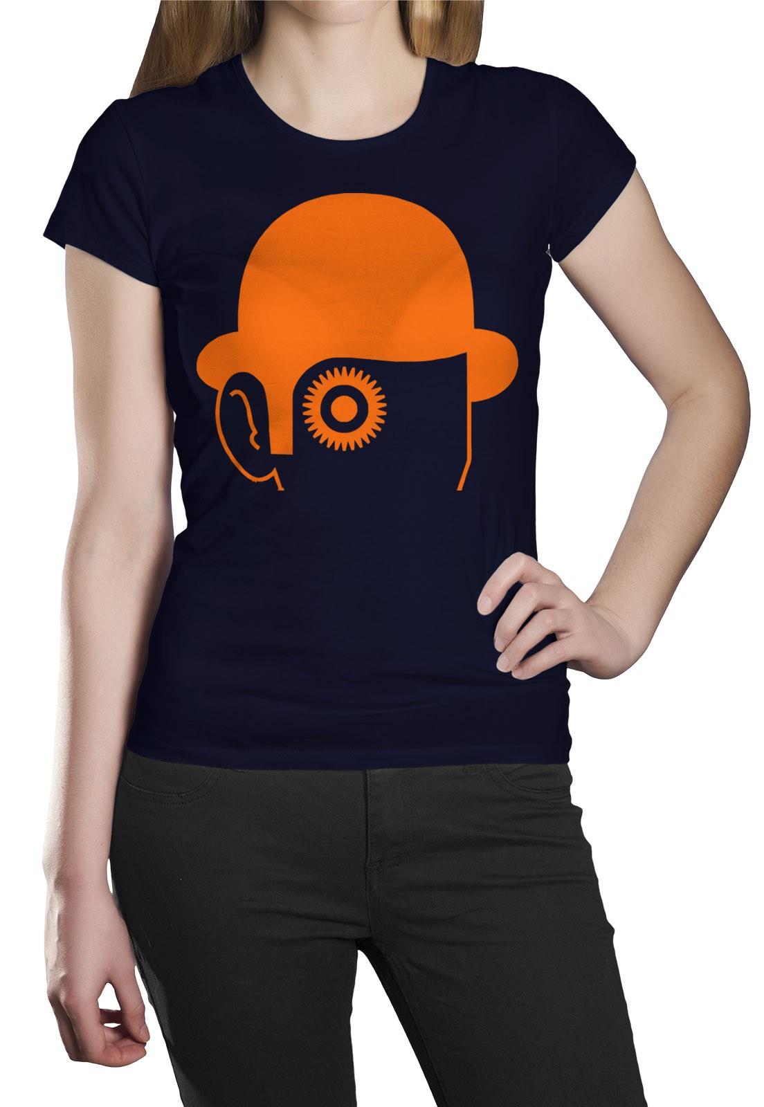 Camiseta HShop Laranja Mecânica Azul  - HShop