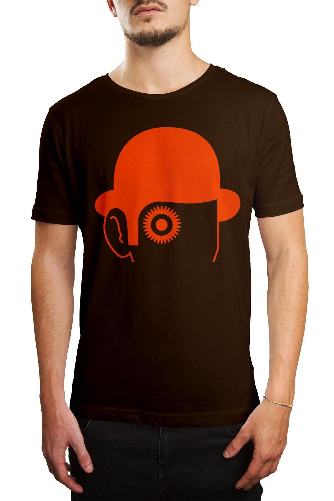 Camiseta HShop Laranja Mecânica Marrom  - HShop