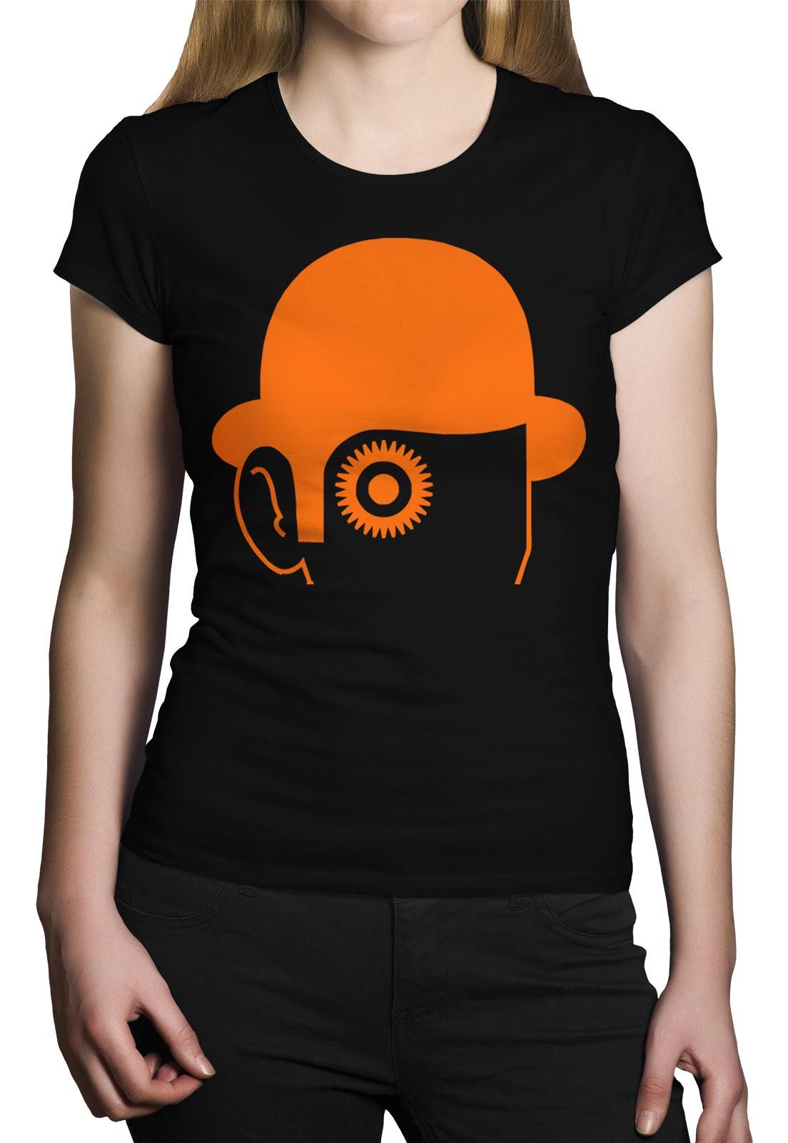 Camiseta HShop Laranja Mecânica Preto  - HShop