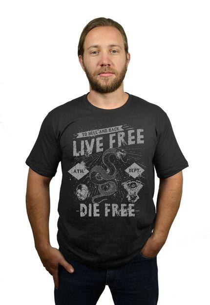 Camiseta HShop Live Free Cinza  - HShop