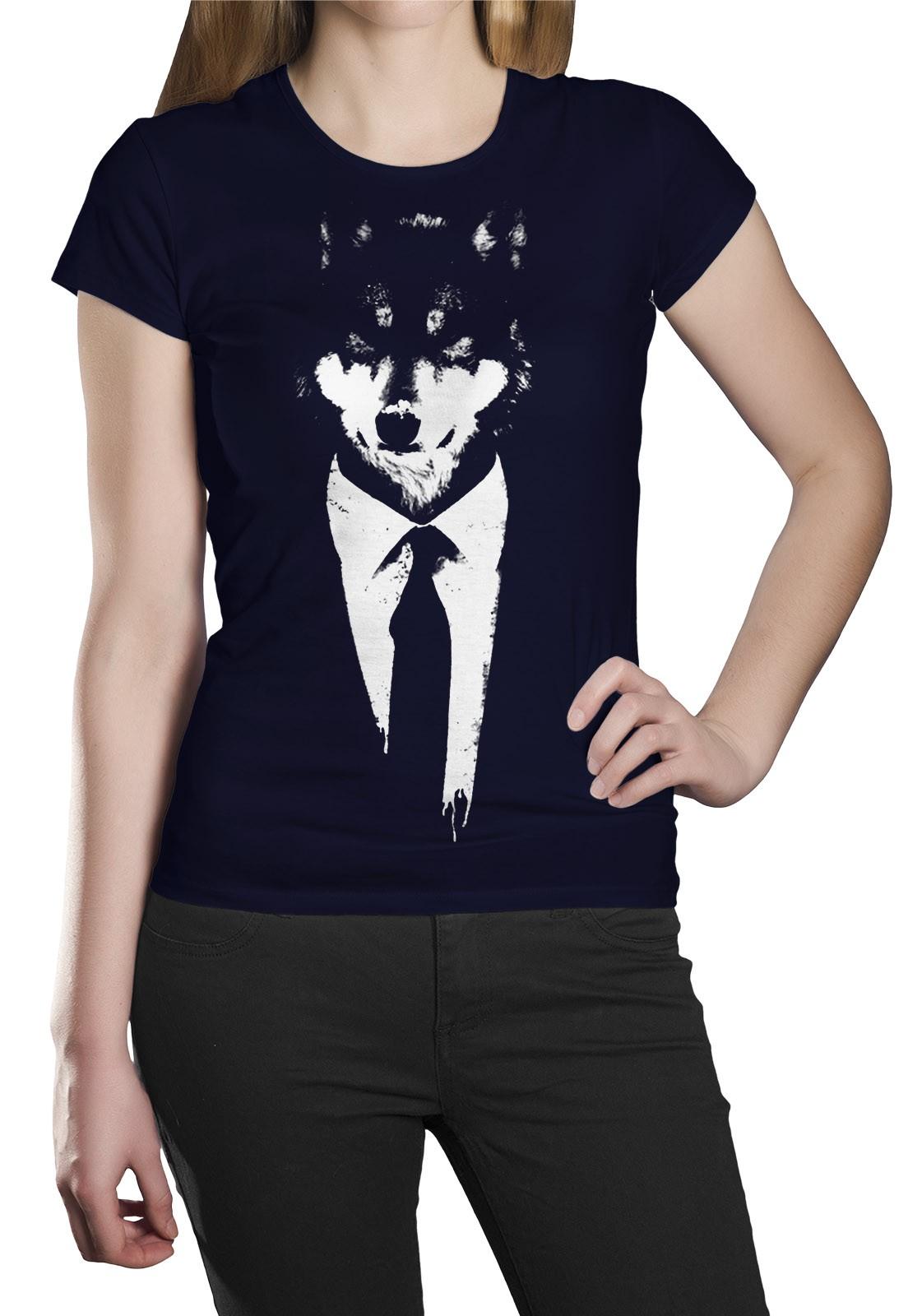 Camiseta HShop Lobo Azul  - HShop