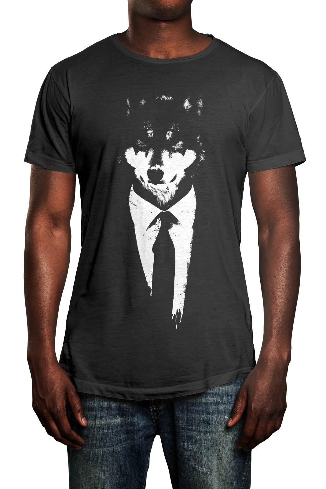 Camiseta HShop Lobo Cinza  - HShop