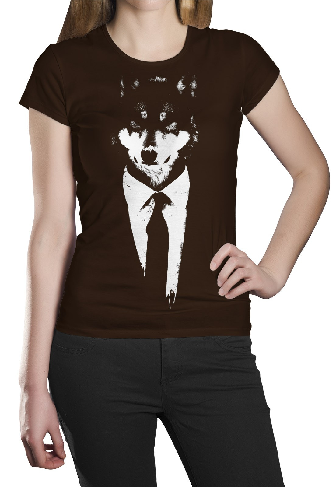 Camiseta HShop Lobo Marrom  - HShop