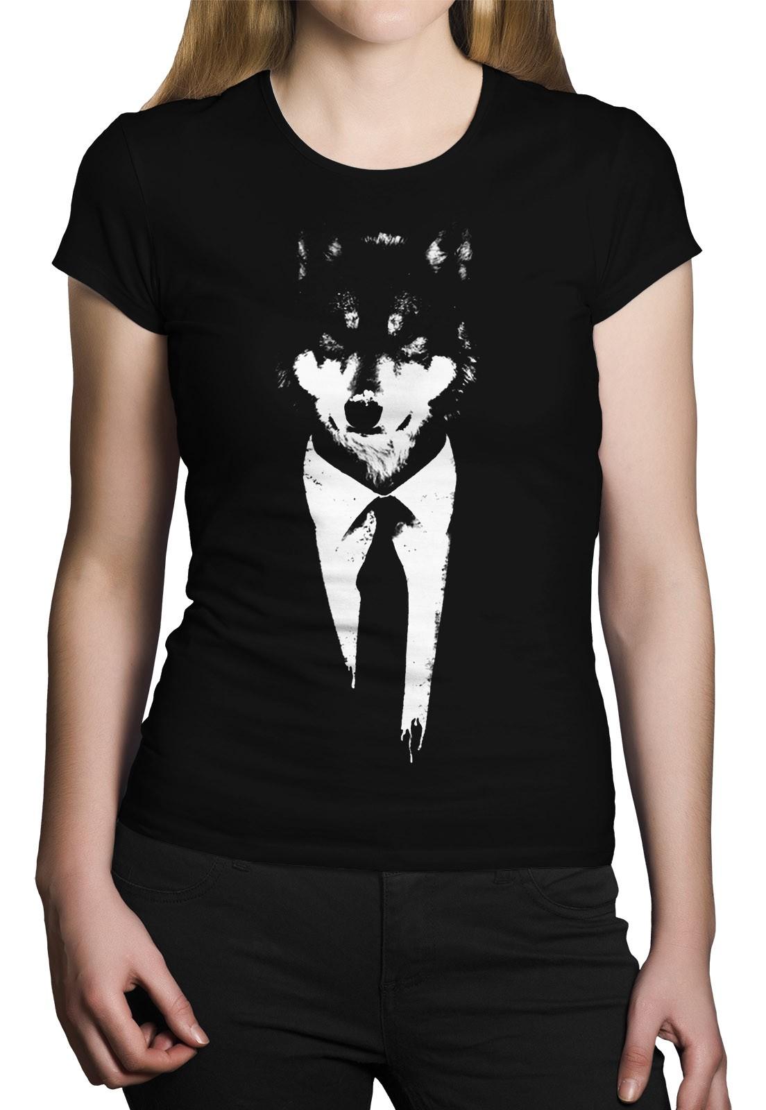Camiseta HShop Lobo Preto  - HShop