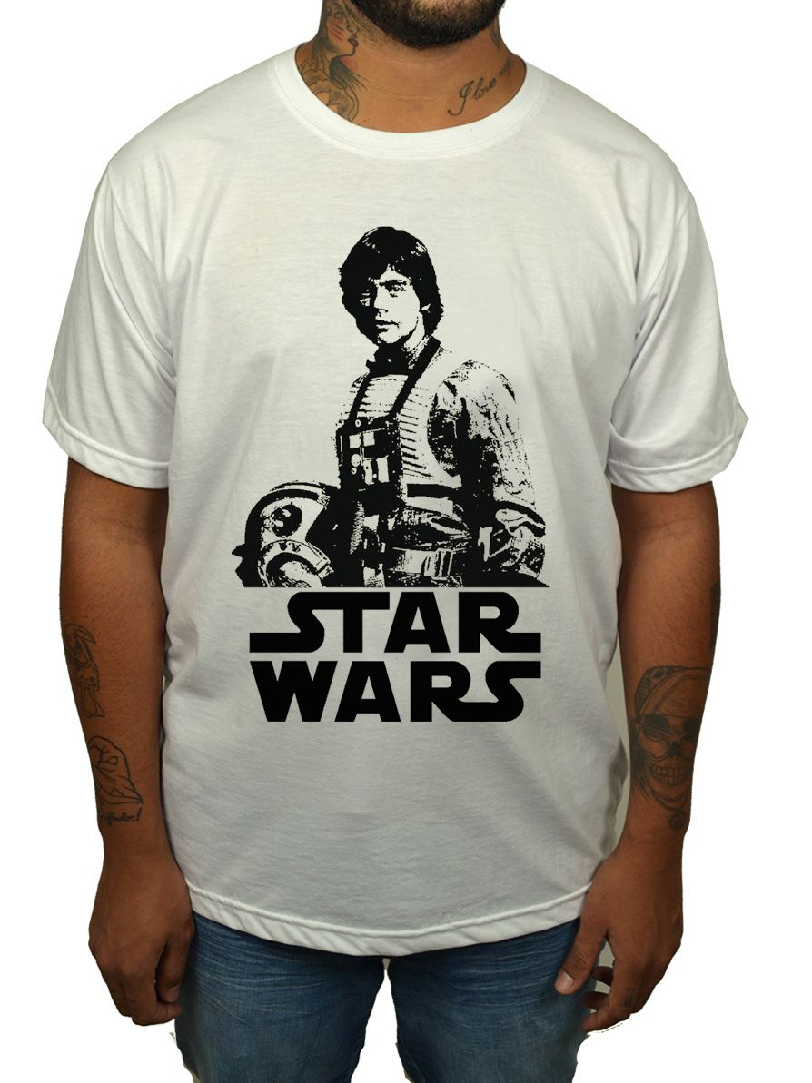 Camiseta Luke Star Wars - Branco  - HShop