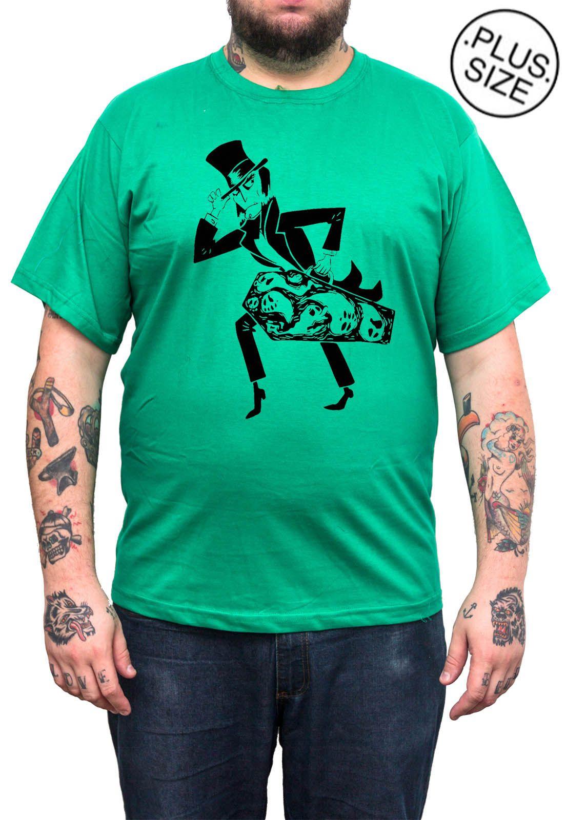 Camiseta Hshop Magic Scape - Verde Bandeira - Plus Size - Tamanho Grande XG  - HShop