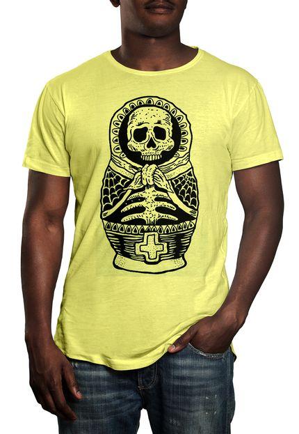 Camiseta HShop Mumia - Amarelo Bebê  - HShop