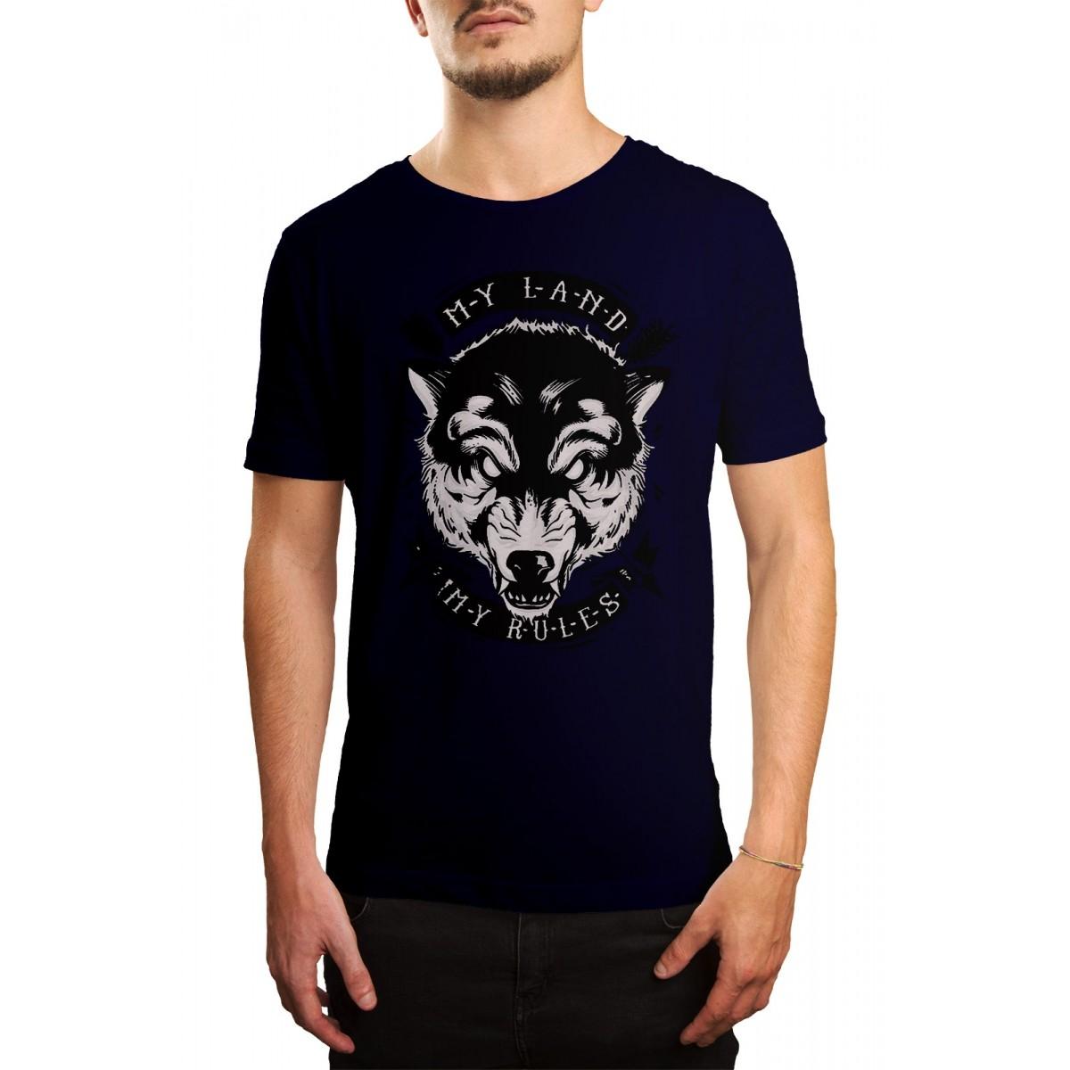 Camiseta  HShop My Rules Azul Marinho  - HShop