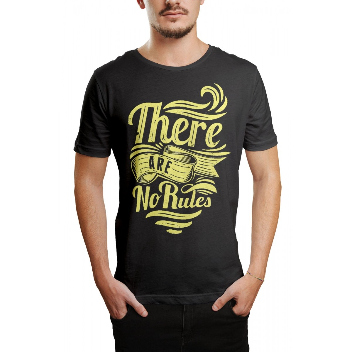 Camiseta HShop No Rules Cinza  - HShop