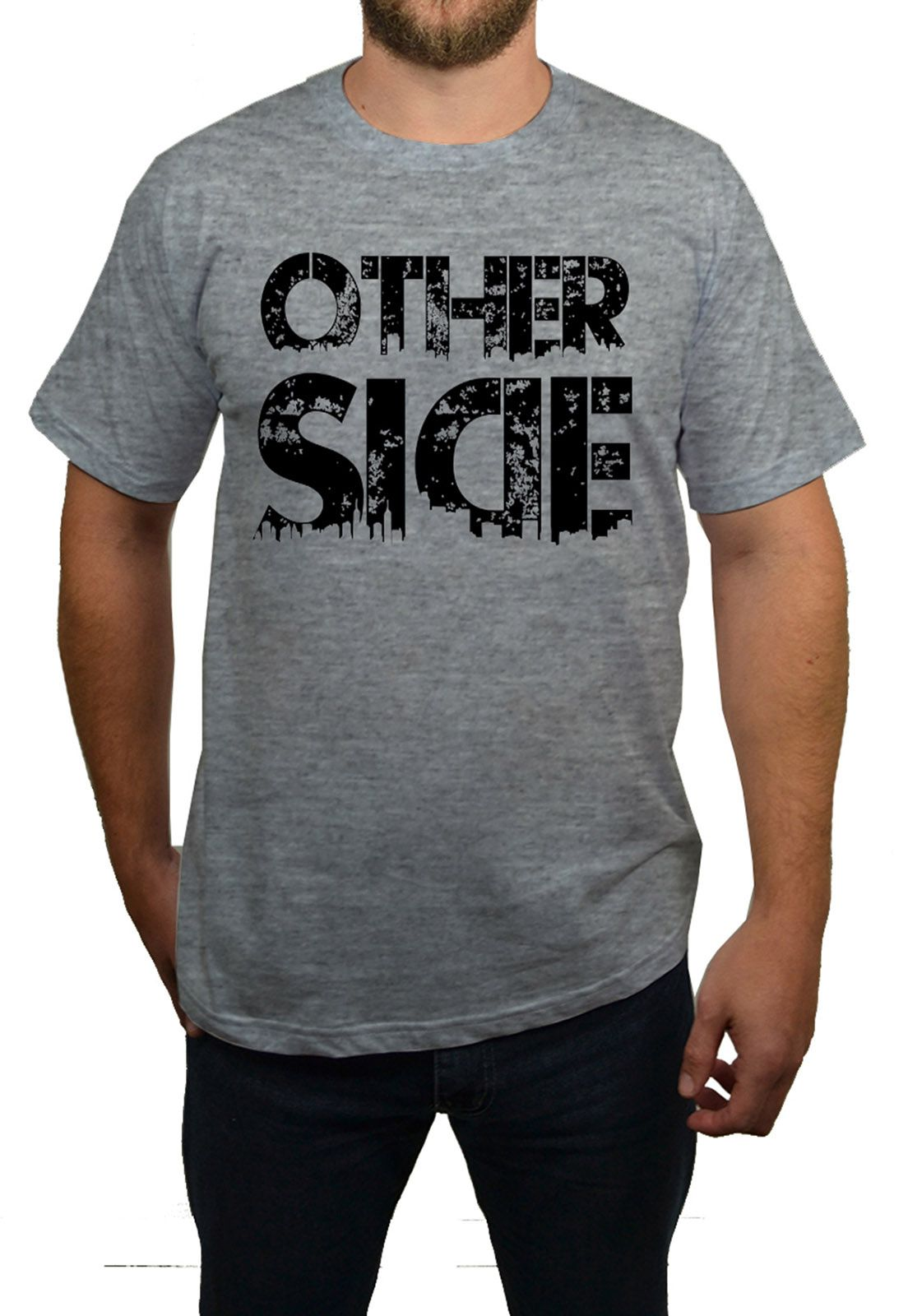 Camiseta Hshop Other Side - Cinza Mescla  - HShop