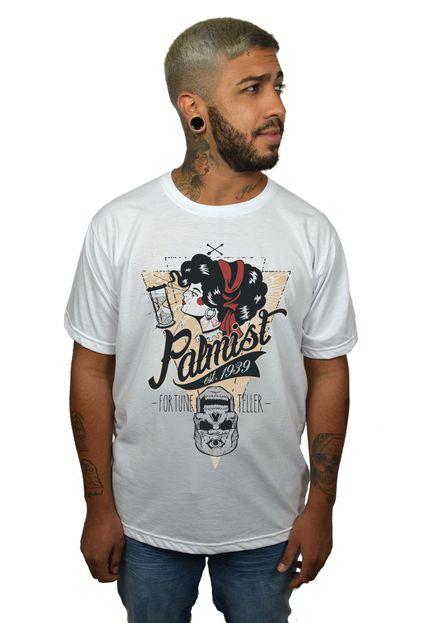 Camiseta HShop Palmist Branca  - HShop