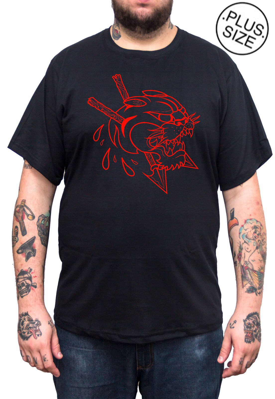 Camiseta Hshop Pantera - Preto - Plus Size - Tamanho Grande XG  - HShop